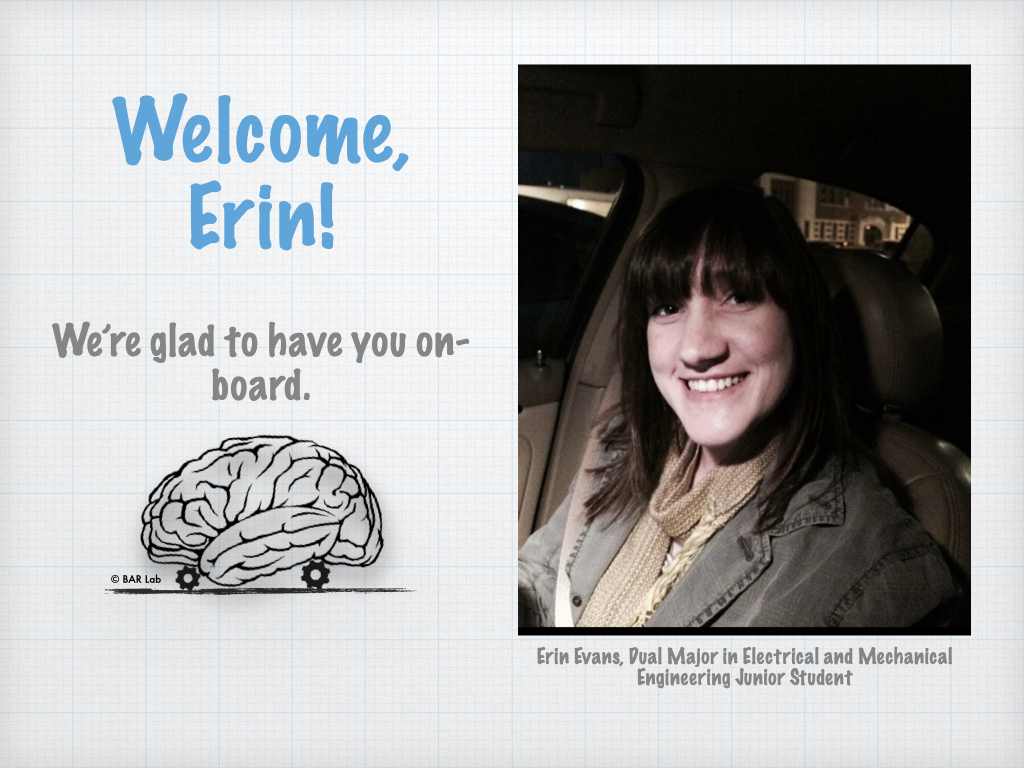 Welcome, Erin! We're so glad to have you on-board