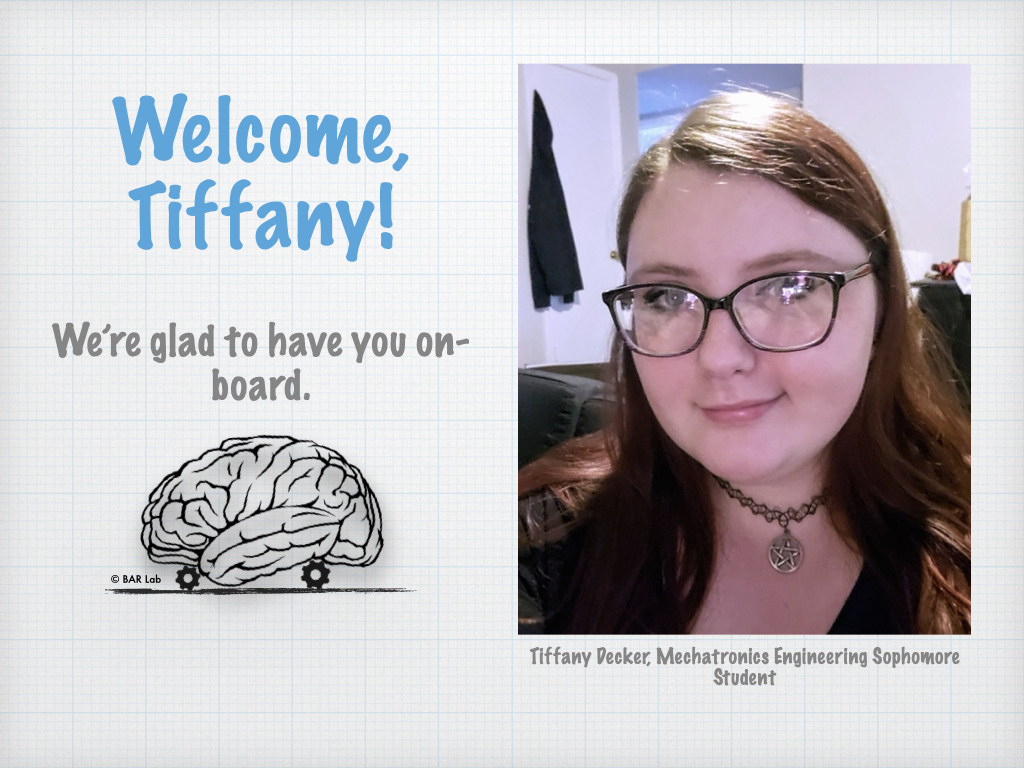 Welcome, Tiffany! We're so glad to have you on-board
