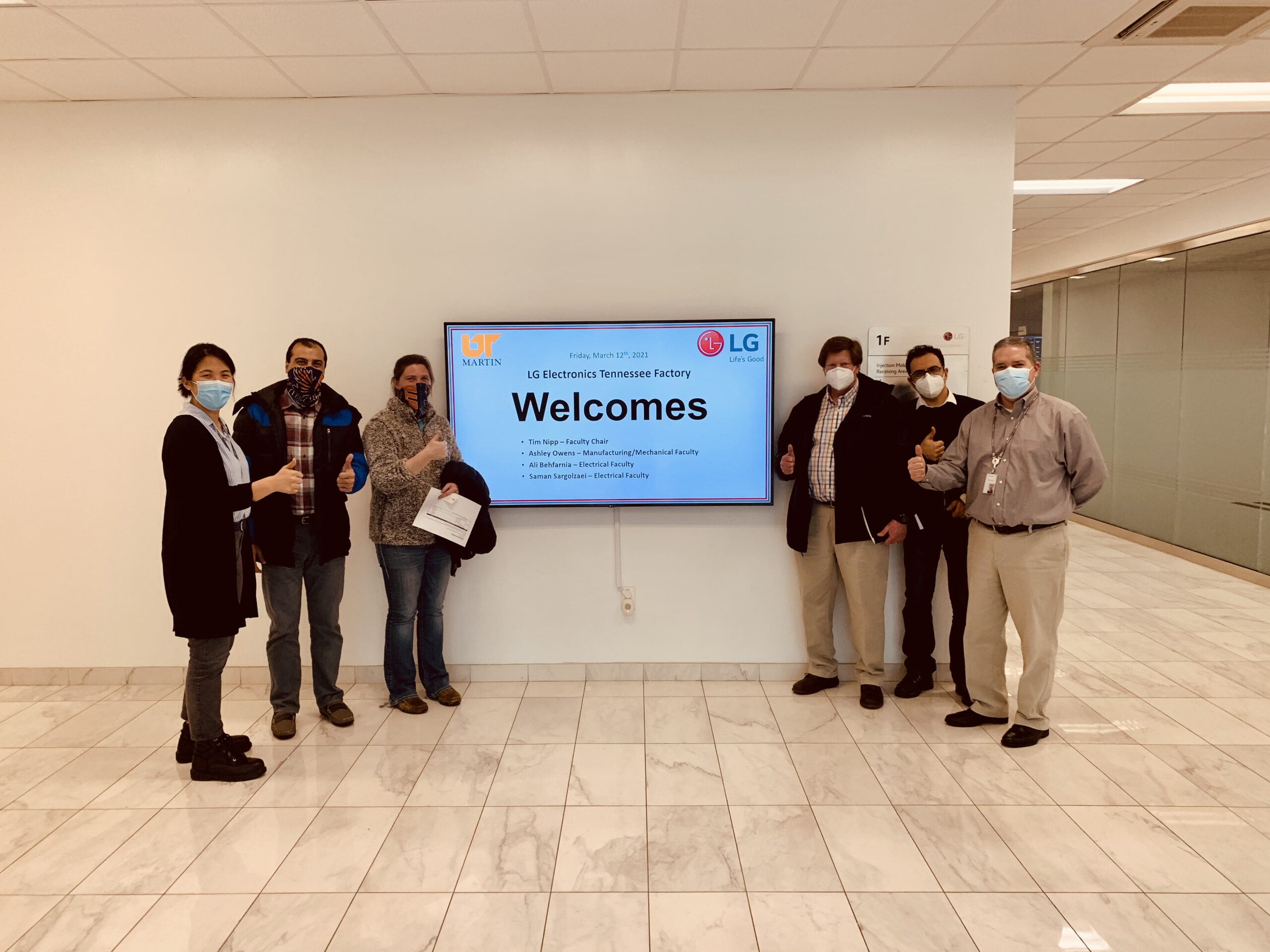 UTM visits U.S. LG Electronics Factory in Clarksville, TN
