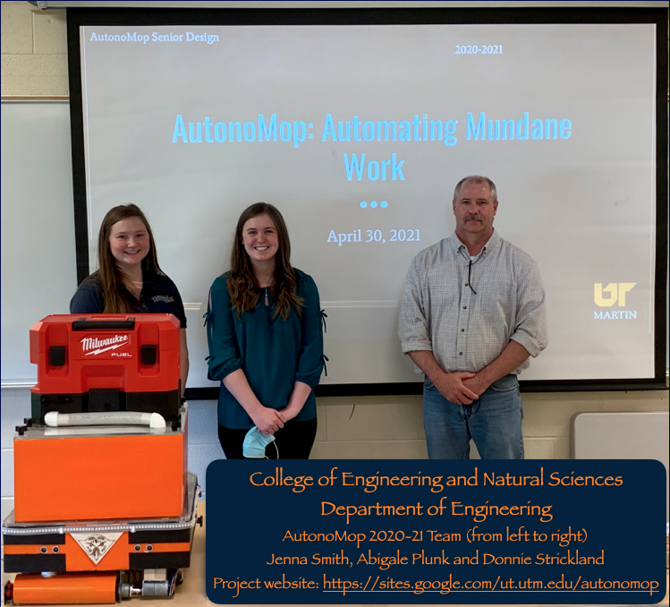 We wrapped up our Spring 2021 with our AutonoMop senior design presentation and demo